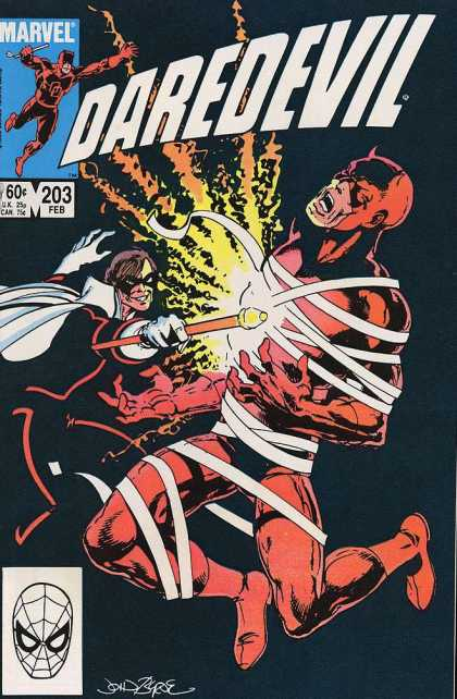 Daredevil 203 - Marvel - Wrap - Wand - Fire - Anguish - John Byrne