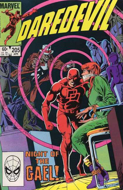 Daredevil 205 - Night Of The Gael - Girl - Bondage - Hypnotize - The Thinker