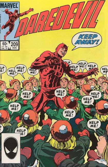 Daredevil 209 - Cloned Children - Keep Away - Surrounded - Crowd - Marvel