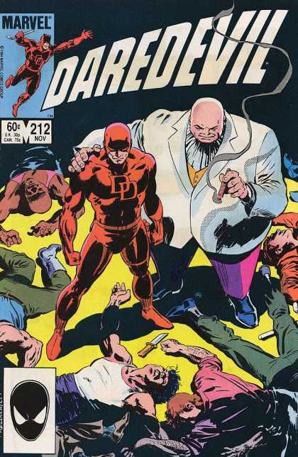 Daredevil 212 - Dead People - Cigar - Fat Man - Knife - Smoke