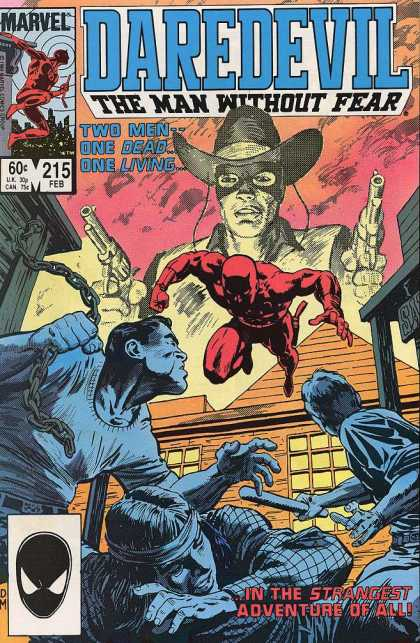 Daredevil 215 - Cowboy - Mask - Guns - Superhero In Red - Bullies