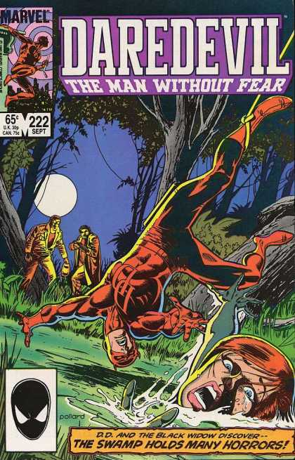 Daredevil 222 - Upside Down - Rope - Hunters - Trees - Full Moon
