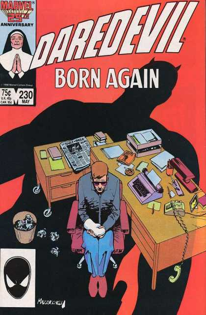 Daredevil 230 - Marvel - Born Again - 25th Anniversary - Man - Table
