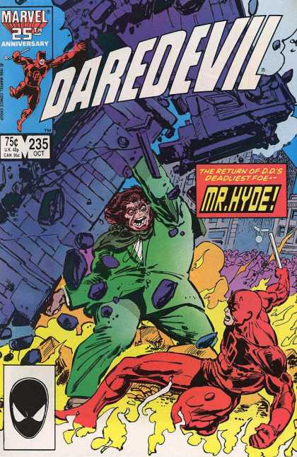 Daredevil 235 - Marvel - Battle - Costume - Giant - Flame - Klaus Janson