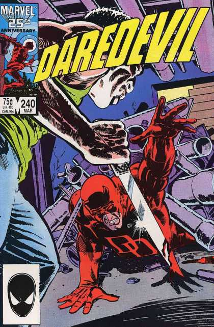 Daredevil 240 - Marvel 25 Th Anniversary - 240 Mar - Mask - Knife - Fight