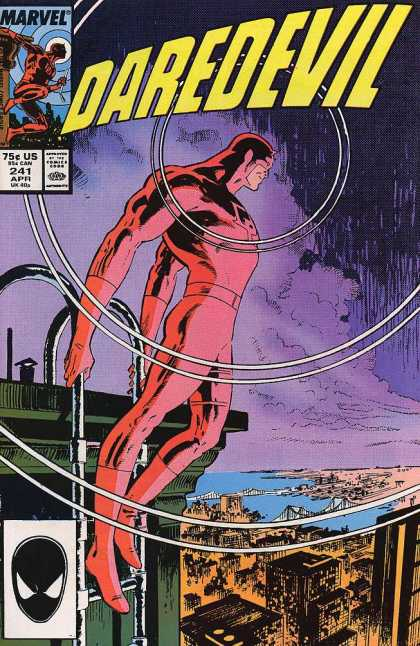 Daredevil 241 - Apr 241 - Can Uk Us 75 Cents - Climbing Down Ladder - Looking Over City - Sending Out Signal