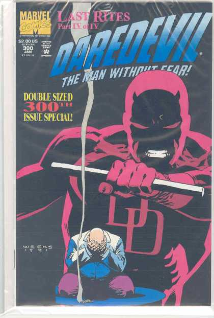 Daredevil 300 - Marvel - Last Rites - Man Without Fear - Double Sized - January