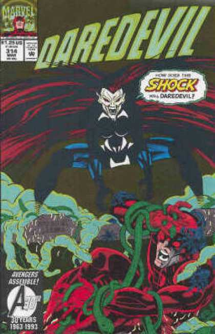 Daredevil 314 - Shock - Snakes - Long Hair - Costume - Superhero - Bud LaRosa