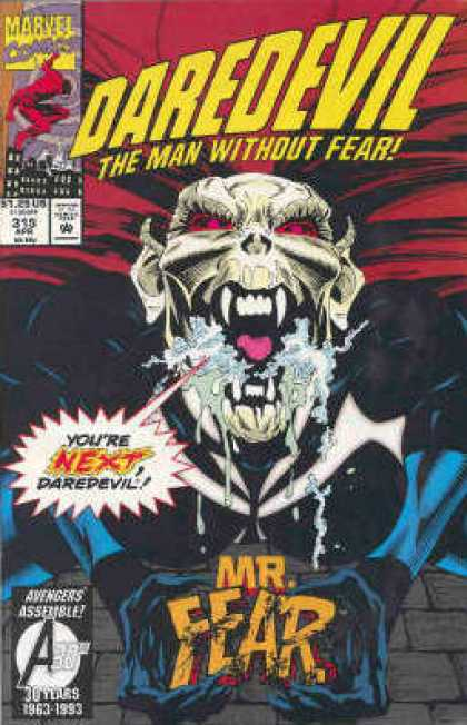 Daredevil 315 - Marvel - Man Without Fear - Speech Bubble - Mr Fear - April - Bud LaRosa