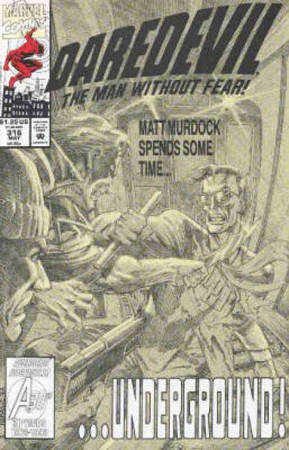 Daredevil 316 - The Man Without Fear - Matt Murdock - Underground - Black And White - Bunker