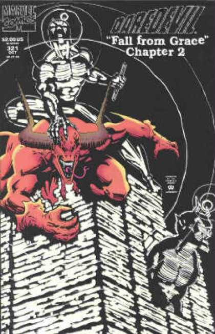 Daredevil 321 - Red - Devil - Beast - Riding - Building