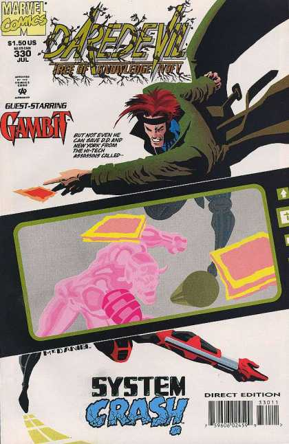 Daredevil 330 - Tree Of Knowledge - Gambit - Guest Starring - Marvel Comics - System Crash