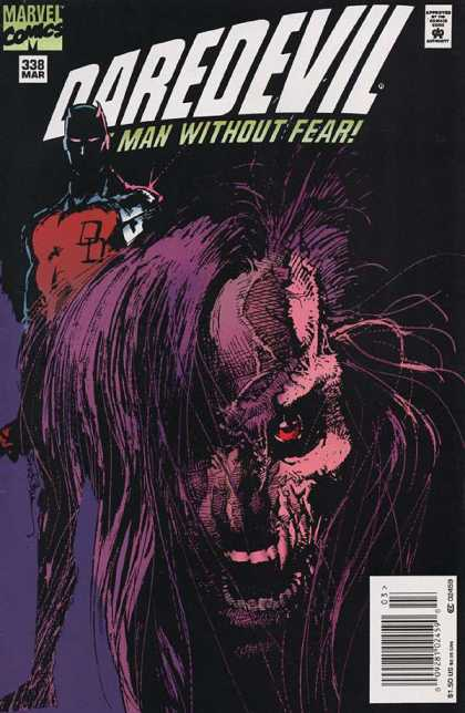 Daredevil 338 - Marvel - Approved By The Comics Code Authority - Man Without Fear - 338 Mar - 150 Us - Bill Sienkiewicz