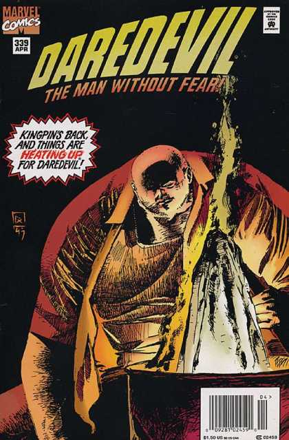 Daredevil 339 - Marvel Comics - Approved By The Comics Code - Kingpin - Rock - The Man Without Fear