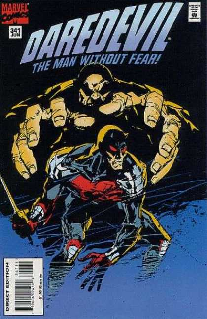 Daredevil 341 - Marvel Comics - Approved By The Comics Code - Superhero - Mutant - Direct Edition