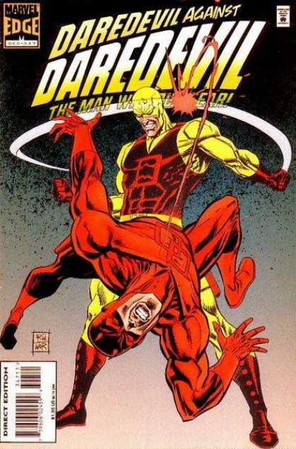 Daredevil 347 - Marvel Edge - Punch - Direct Edition - Red Suit - Yellow Suit
