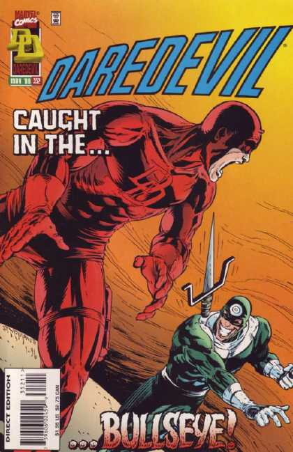 Daredevil 352 - Caught In The - Marvel Comics - Bullseye - Direct Edition - Knife