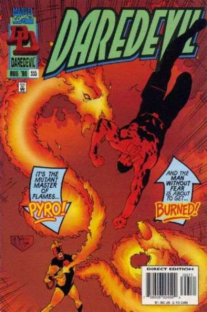 Daredevil 355 - August - No 355 - Pyro - Fire - Marvel