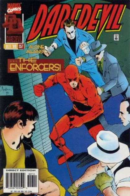 Daredevil 357 - Marvel Comics - The Enforcers - Alone Against - Bandit - Direct Edition