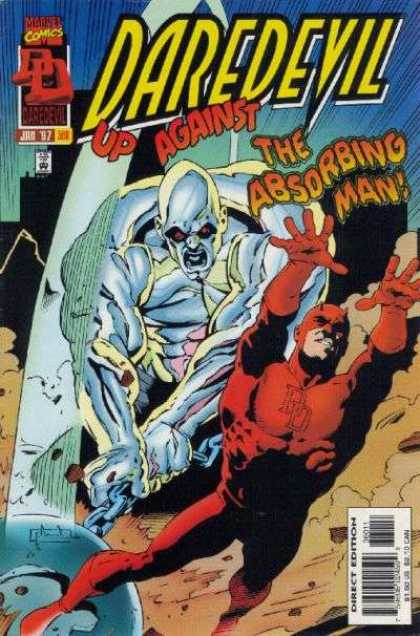 Daredevil 360 - Marvel Comics - The Absorbing Man - Blue Attacker - Weapon - Direct Edition