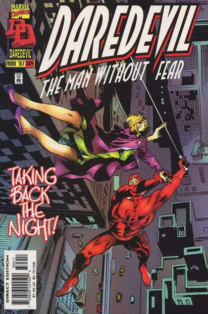 Daredevil 364 - Taking Back The Night - Falling - Rescue - Man Without Fear - High Rise Buildings - Gene Colan