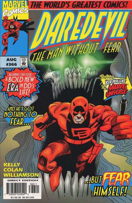 Daredevil 366 - Hero - Fly - Monster - Eyes - Scared - Gene Colan