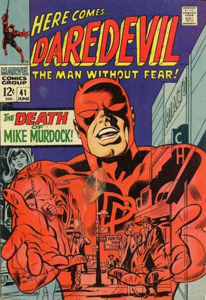 Daredevil 41 - Marvel - Marvel Comics - Man Without Fear - Death - Mike Murdock - Gene Colan