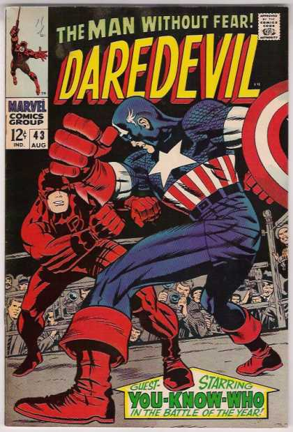 Daredevil 43 - Hero Without Fear - Marvel Comics Devil - Captain Planet Comic - Battle Of The Year - Marvel Captain Planet - Jack Kirby