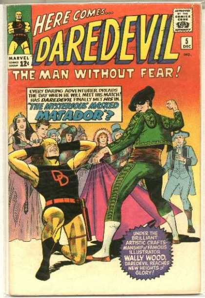 Daredevil 5 - Matador - Adventurer - Wally Wood - Man Without Fear - Masked