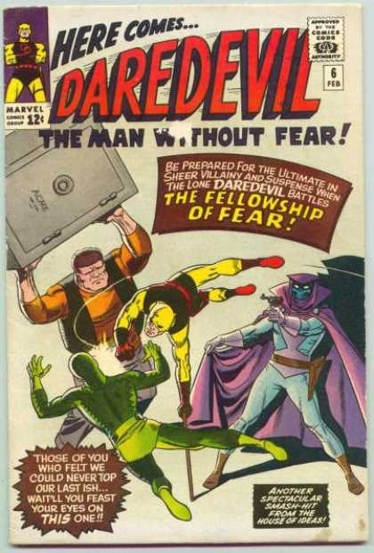 Daredevil 6 - The Man Without Fear - Daredevil - The Fellowship Of Fear - From The House Of Ideas - Marvel