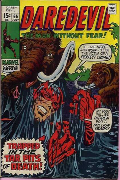 Daredevil 66 - July - Marvel - Wooly Mammoth - Speech Bubbles - 15 Cents