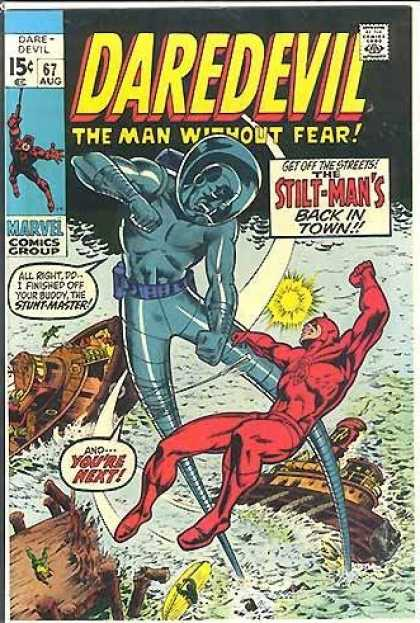 Daredevil 67 - Marvel Comics - Stilt-man Fights Daredevil - Dare-devil - Stil-man Back - Bill Everett