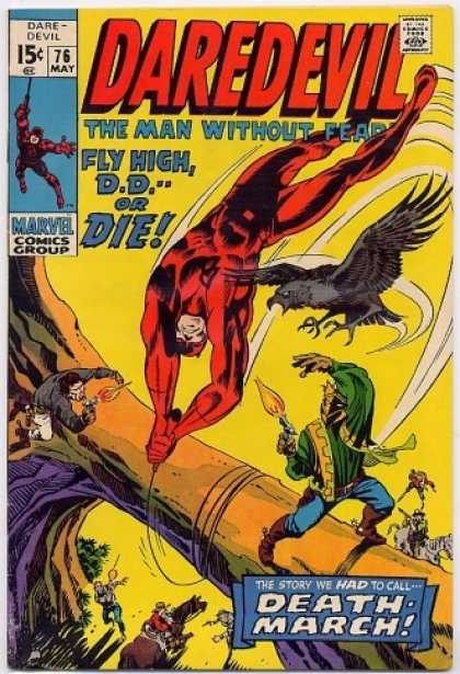 Daredevil 76 - Hawk - Swinging - Dd - Tree - Horse