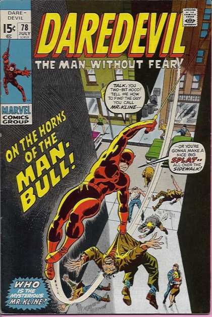 Daredevil 78 - Approved By The Comics Code Authority - 78 July - Marvel Comics Group - The Man Without Fear - Who Is The Mysterious Mrkline - Sal Buscema