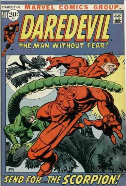Daredevil 82 - Marvel Comics Group - 2 Dec - 20 Cents - The Man Without Fear - Send For The Scorpian