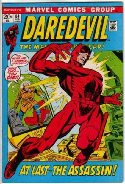 Daredevil 84 - Marvel Comics Group - The Man Without Fear - Superhero - Approved By Comics Code - At Last The Assasin