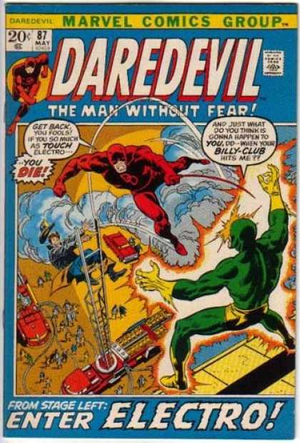 Daredevil 87 - The Man Without Fear - Marvel - Electro - Firefighter - Smoke - Sal Buscema