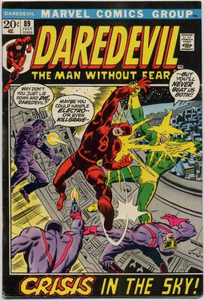 Daredevil 89 - Electro - Guns - City - Costumes - Machinery - Sal Buscema