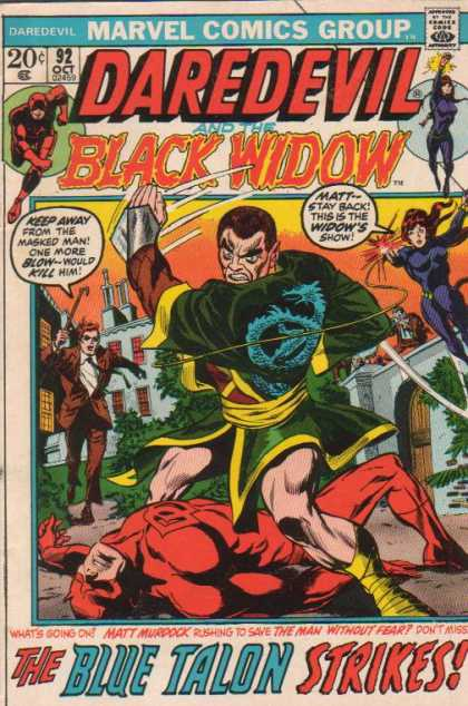 Daredevil 92 - Marvel - Marvel Comics - Black Widow - Matt Murdock - Fight - Gene Colan