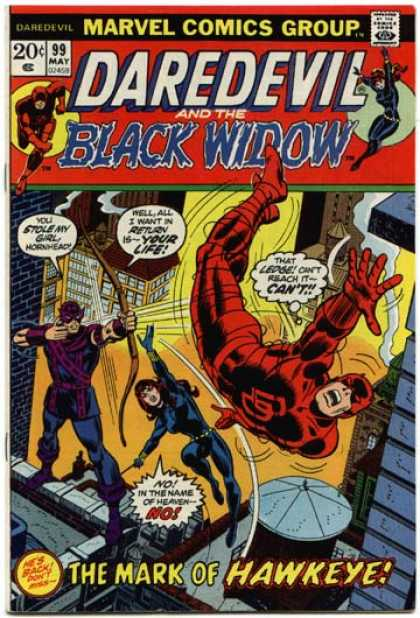 Daredevil 99 - Approved By The Comics Code Authority - 99 May - Black Widow - Arrow - The Mark Of Hawkeye