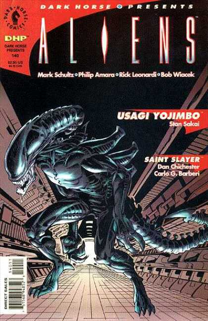Dark Horse Presents 140 - Alien - Climbing Building - Tail - Drool - Armor - Bob Wiacek, Rick Leonardi