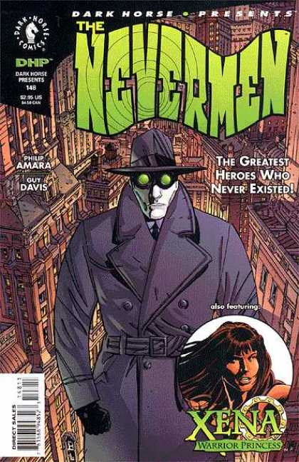 Dark Horse Presents 148 - The Nevermen - Heros Who Never Existed - Xena - Green Goggles - City Buildings - Dave Stewart, Guy Davis