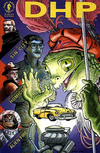 Dark Horse Presents 58 - Reptile - Man - Hat - Eye Glass - Car