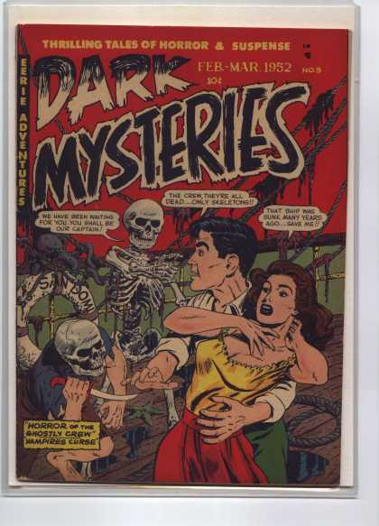 Dark Mysteries 5 - Thrilling Tales Of Horror And Suspense - Feb-mar - Adventures - Knife - 1952