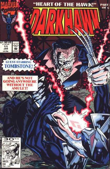 Darkhawk 11 - Tombstone - Amulet - 30th Anniversary - Red Light - Heart Of The Hawk - Mike Manley