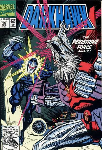 Darkhawk 18 - Perstrike Force - Finale - Darkhawk Finale - Battle On Cover - Marvel Comics - Mike Manley