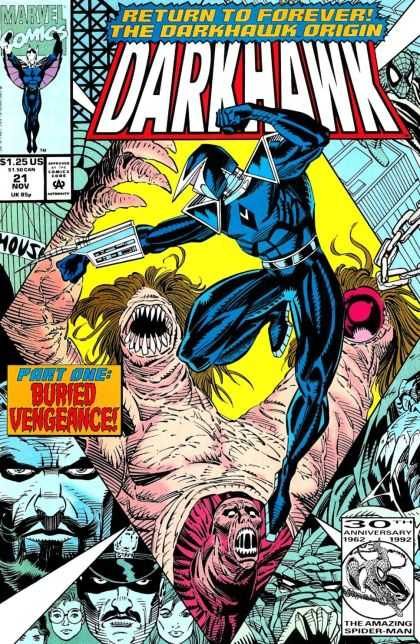 Darkhawk 21 - Origin - Two Heads - Monster - Part One - Buried Vengeance - Mike Manley