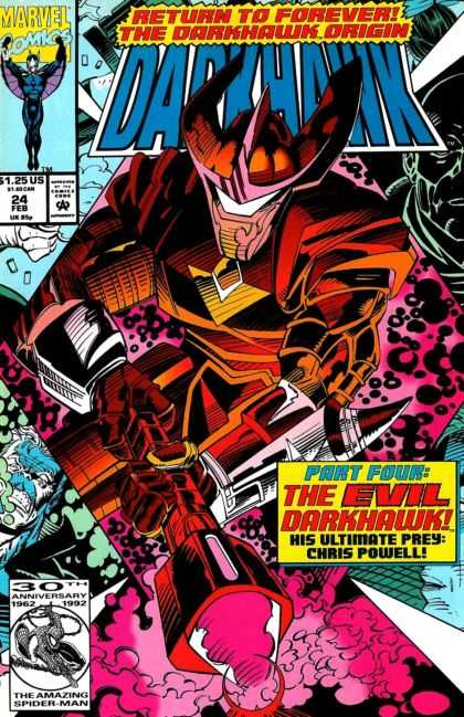 Darkhawk 24 - Marvel Comics - Return To Forever - Part Four - Chris Powell - 30th Anniversary - Mike Manley