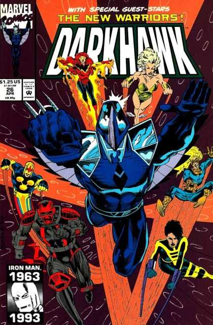 Darkhawk 26 - The New Warriors - Marvel Comics - Iron Man - Flying - Tom Defalco