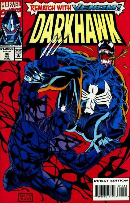 Darkhawk 36 - Spider - Fight - Venom - Mask - Claw